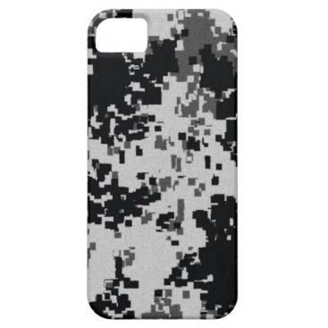 Black & White Digital Camouflage iPhone SE/5/5s Case