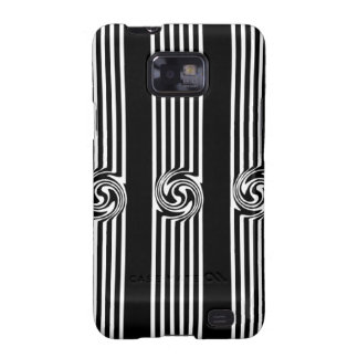 Black & White Swirl Burst Galaxy S2 Cases