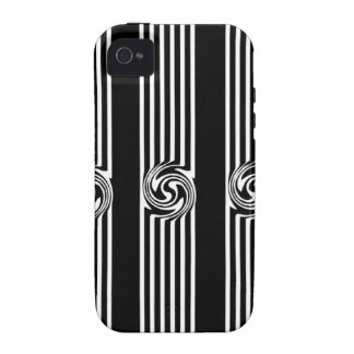 Black & White Swirl Burst iPhone 4 Case