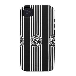 Black & White Swirl Burst iPhone 4 Case