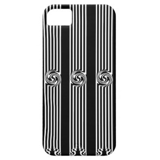 Black & White Swirl Burst iPhone 5/5S Case
