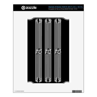 Black & White Swirl Burst NOOK Decals