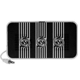 Black & White Swirl Burst Notebook Speaker