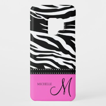 Black & White Zebra stripes with hot pink Case-Mate Samsung Galaxy S9 Case