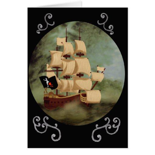 Blackbeard's Ship (Queen Anne's Revenge) Card