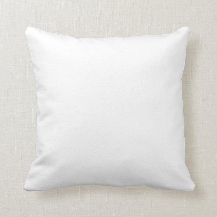 blank white square pillow to design yourself zazzle com