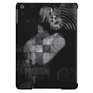Blk&Wht Grunge Pop Camera Head Art Ipad Air Case