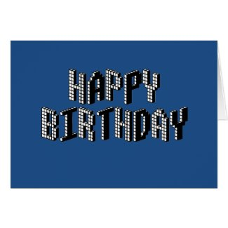 Blocks Happy Birthday (Blue) Card