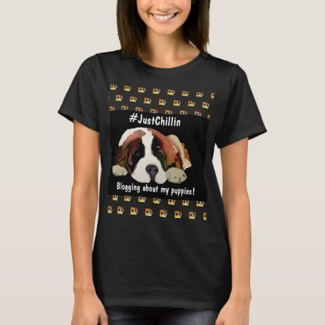 Bloggers Simple Editable Quote St. Bernard #Chill
