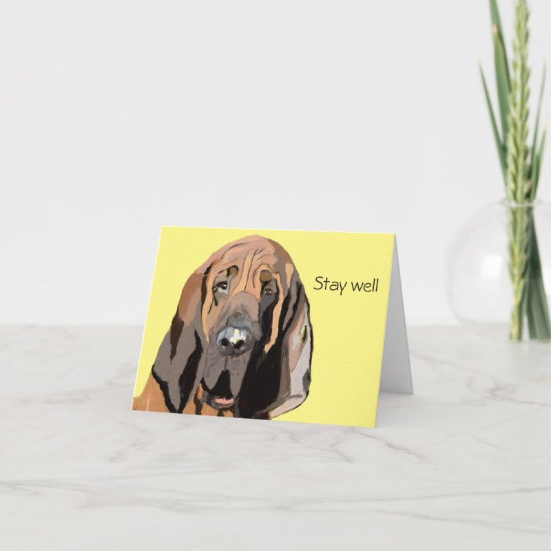 Bloodhound Be Well Card