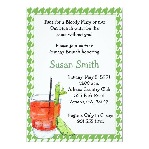 Bloody Mary Brunch Invitation