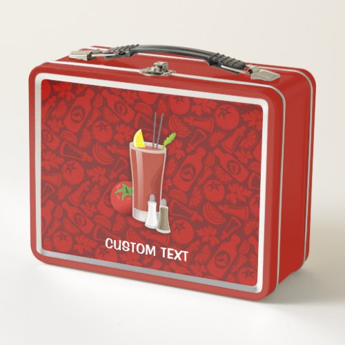 Bloody Mary Metal Lunch Box