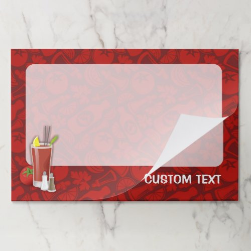 Bloody Mary Paper Pad