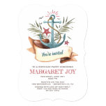 Blue Anchor Invitation