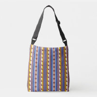 Blue and brown peruvian Llama Pattern Crossbody Bag