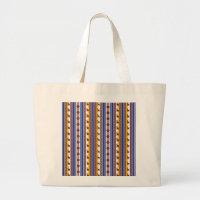Blue and brown peruvian Llama Pattern Large Tote Bag