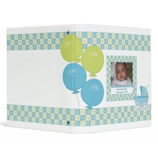 Blue and Yellow Carriage Baby Binder binder