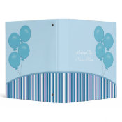 Blue Balloons Poetry Binder