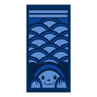 Blue Bear Verticle Poster print