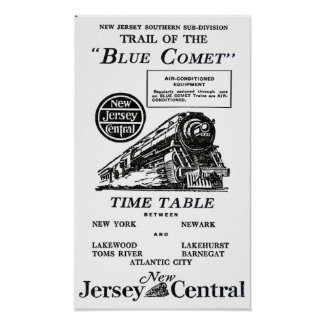 Blue Comet Train - Luxury coach Trains Poster
