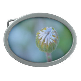 Blue Daisy Bud - Belt Buckle
