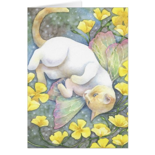 Blue Eyes - Siamese Fairy Cat Art Card