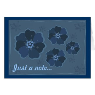 Blue Flowers Card card