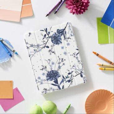 Blue flowers iPad smart cover