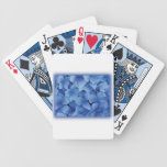 Blue Hydrangea Blossoms playing cards