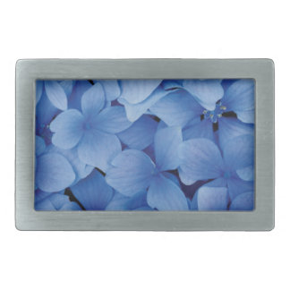 Blue Hydrangea Blossoms Rectangular Belt Buckles