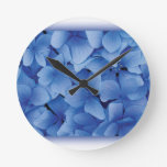 Blue Hydrangea Blossoms wall clocks