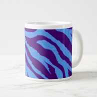 Blue/Indigo Zebra Animal Print Specialty Mug on Zazzle