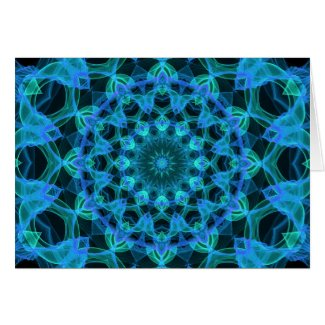 Blue Jellyfish Kaleidoscope Greeting Cards