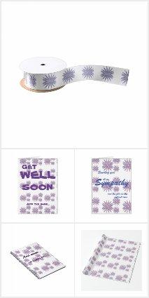Blue/lilac/pink flower Design