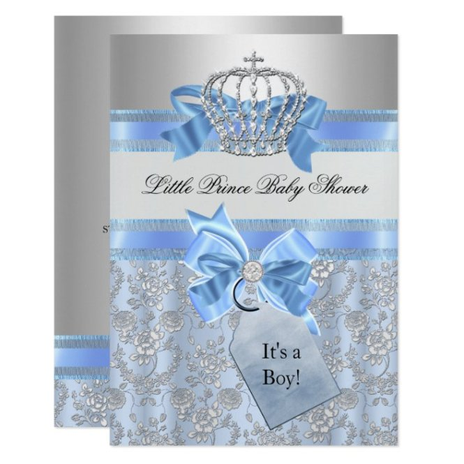 Blue Little Prince Crown Baby Shower