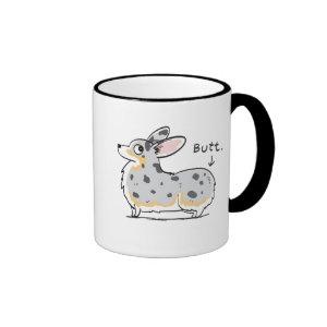 Blue Merle Corgi Butt Mug