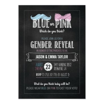 Blue or Pink Which Do You Think? Gender Reveal Invitation