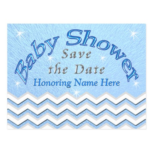 Save Date Baby Shower Postcards