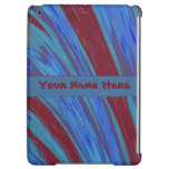 Blue Red Color Abstract Cover For iPad Air
