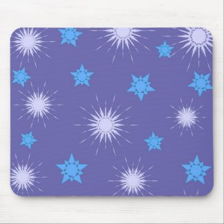 Blue stars pattern - Mousepad
