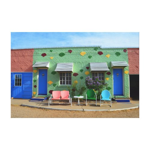 Blue Swallow Motel, Tucumcari, New Mexico Canvas Print