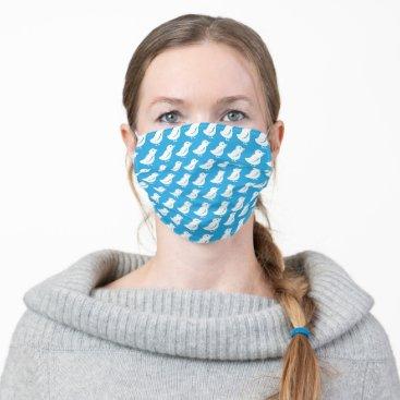 Blue Tweety Birds Pattern Cloth Face Mask