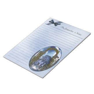 blue Unicorn 1 Notepad 11x8.5