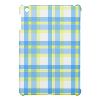 Blue yellow plaid - iPad case