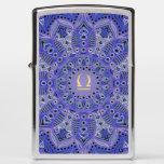 Blue Zodiac Sign Libra Mandala Zippo Lighter