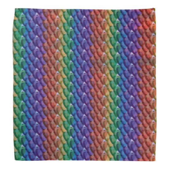 Blurred Abstract Funky Rainbow Hearts Bandana