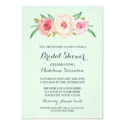 Spring Mint Pocket Wedding Invitation Kits Iwpi018