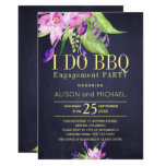 Blush pink plum navy engagement i do bbq party invitation