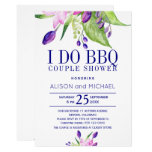 Pretty Blush Pink & Navy Floral I Do BBQ Invitation