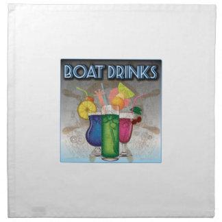 Boat Drinks Printed Napkin